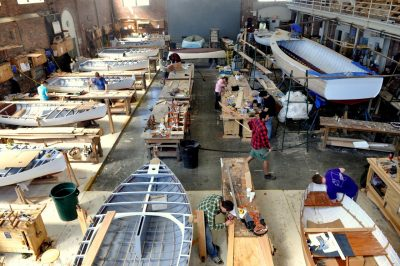 Students at IYRS Boatbuilding and Restoration
