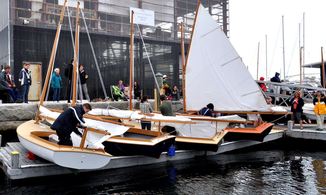 Students at IYRS launch their Beetle Cat Boats at Graduation