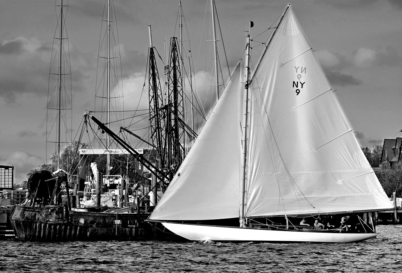 Amorita sailing in Newport Harbor